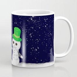 Snowman Jack and Sally with Poinsettia Coffee Mug