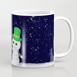Snowman Jack and Sally with Poinsettia Coffee Mug