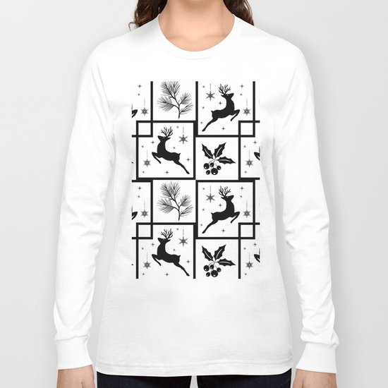 Christmas black and white pattern. Long Sleeve T-shirt
