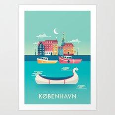 Copenhagen, Denmark Art Print