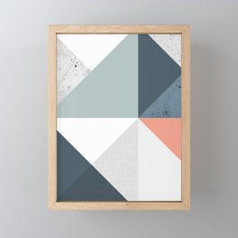Modern Geometric 12 Framed Mini Art Print