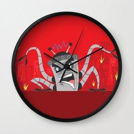 Robot Rampage Wall Clock