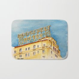 The Hollywood Roosevelt Hotel - Golden Era Icon on Hollywood Blvd Bath Mat