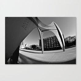 Grand Vitesse Black & White 2 Canvas Print