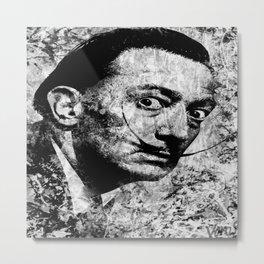 SALVADOR DALI (BLACK & WHITE VERSION) Metal Print