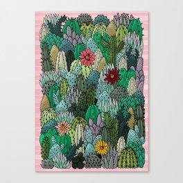 Cactus Collection Canvas Print
