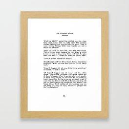 Becoming Real, Velveteen Rabbit Quote Gerahmter Kunstdruck