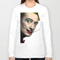 salvador dali Long Sleeve T-shirts featuring Salvador Dali by mark ashkenazi