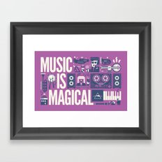 Music is ... Framed Art Print