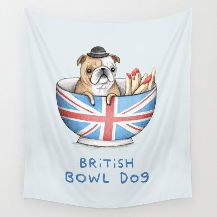 British Bowl Dog Wall Tapestry