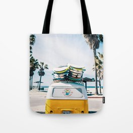 Surfing van Tote Bag