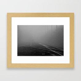 single track Framed Art Print