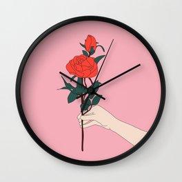 Brin de roses Wall Clock