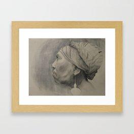 Mother Study Framed Art Print