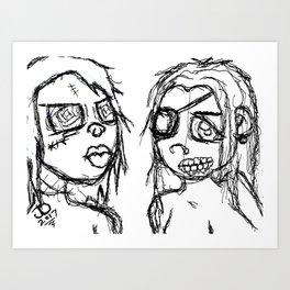 Monstrum Femina Art Print