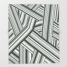 Abstract Crossing Stripes Pattern Throw Blanket