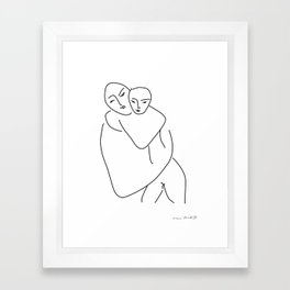 Matisse - Mother and son Framed Art Print