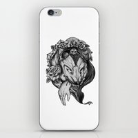 red riding hood iPhone & iPod Skins featuring Riding Hood by FLORA+FAUNA