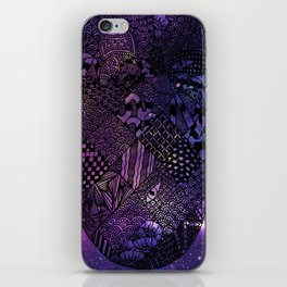 Space Pineapple iPhone Skin