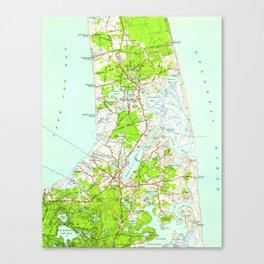 Vintage Map of Orleans Massachusetts (1946) Canvas Print