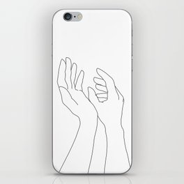 Hands line drawing illustration - Elsa iPhone Skin