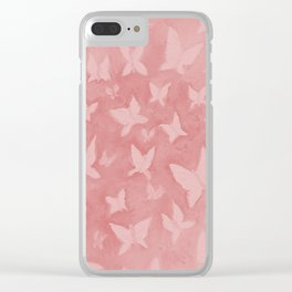 Blushing Butterflies Clear iPhone Case
