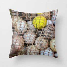 Water Hazard - Golf Photography by Sharon Cummings Throw Pillow