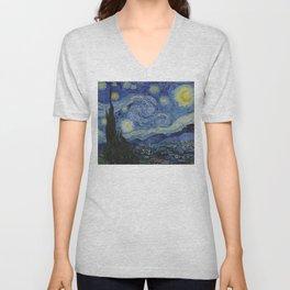 Van Gogh, Starry Night Unisex V-Neck