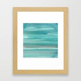 Turquoise Geode Framed Art Print