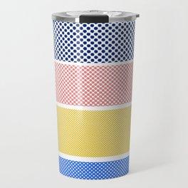 Halftone Stripes Travel Mug