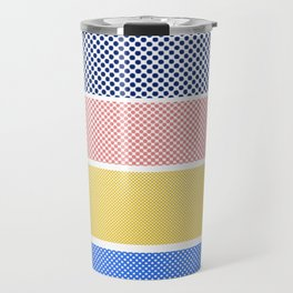 Halftone Stripes Travel Mug