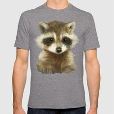 Little Raccoon Tri-Grey SMALL Mens Fitted Tee