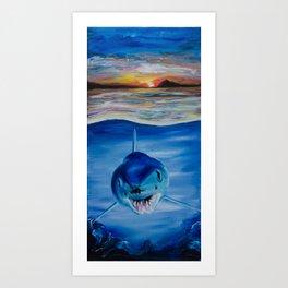 Mako Sunset Art Print