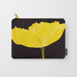Yellow Poppy Black Background #decor #society6 #buyart Carry-All Pouch