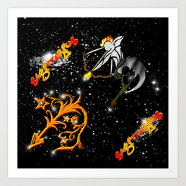Sagittarius Astrology Sign Art Print