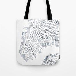 Map Manhattan Gray NYC Tote Bag