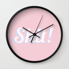 Shit Wall Clock
