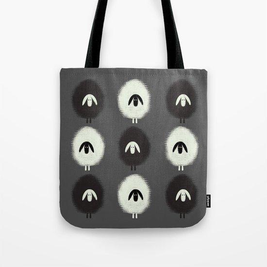 Sheep black & white Tote Bag
