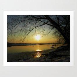 The Sun Goes Down Art Print