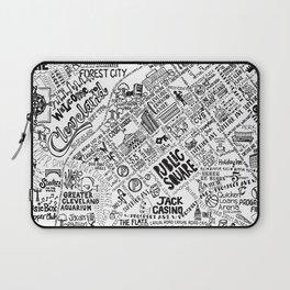 Cleveland Ohio Map Laptop Sleeve