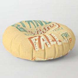 Make a stand Floor Pillow