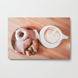 Donuts and Coffee Metal Print