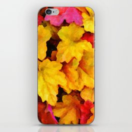 Fallen autumn leaves iPhone Skin