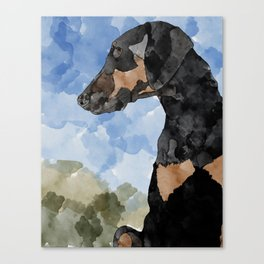 Zora the Majestic (colored background) Canvas Print