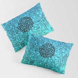 Flower Zen: Blue-Green Fade Pillow Sham