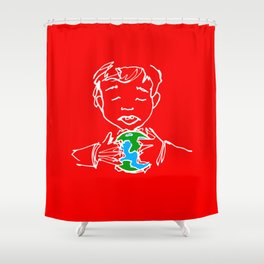 Consuming Shower Curtain