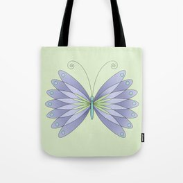 Digital Butterfly Tote Bag