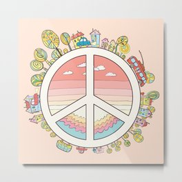 peaceful bright Pacific planet Metal Print