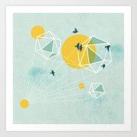 journey Art Prints featuring Journey by Orit Kalev