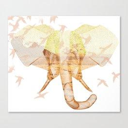 X-ray Art Elephant Canvas Print